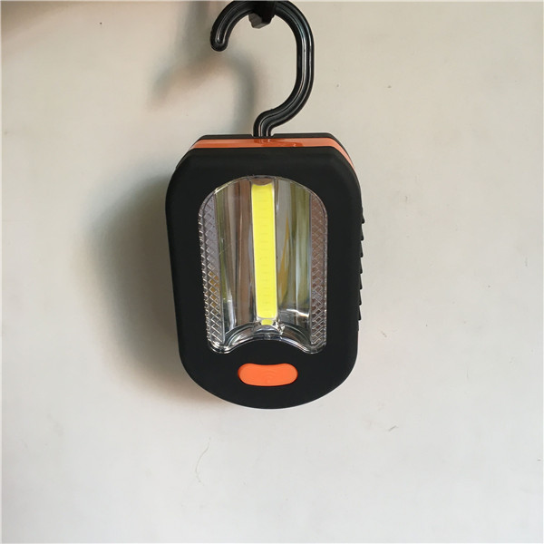 New Style Outdoor Portable Cob + LED Small Super Bright Hand Camping Tent Light With Magnet Hook
