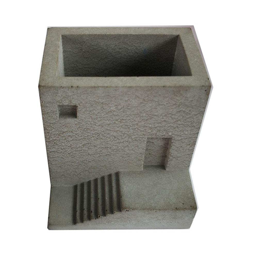 Small House Stairs Shaped Succulent Plant Concrete Cement Pots Silicone Mold Clay Mould Stairs Type Flower Vase Mould Craft