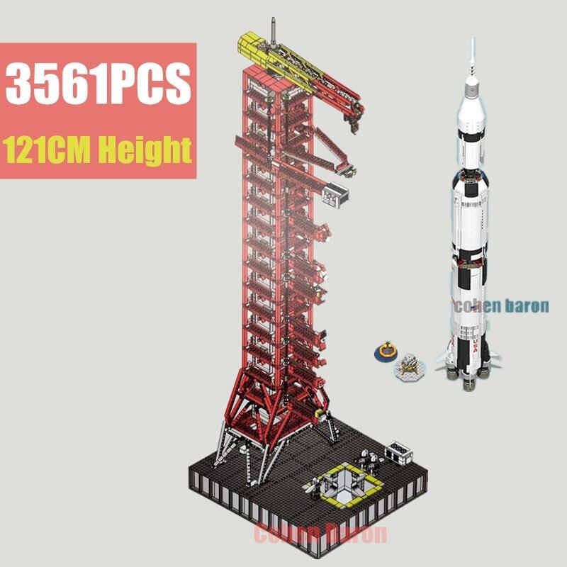 122 PCS Vonado Apollo Saturn V Launch Platform Building Kit for Lego NASA Apollo Saturn V 21309 The Creative Series MOC Model Toys to Friends Boys and Adults