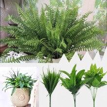 Открытый Декор 30 см растения искусственные листья искусственные растения Декор красивый пластиковый домашний куст домашний декор с цветами комнатный сад