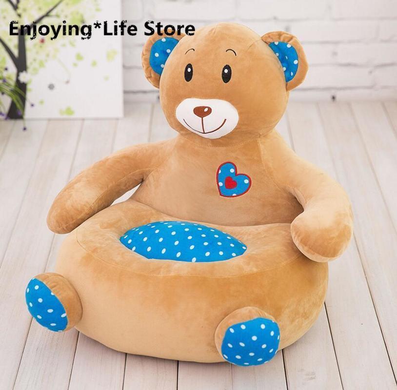 Детский диван, мягкая подушка в виде животного, мягкая игрушка, кукольные стулья для детского сада, напольная подушка, подушка для стула, под... - 2
