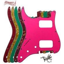 Pleroo гитарные части для левшей FD US 11 монтажное винтовое отверстие Стандартный старт HH хамбакер гитара накладка