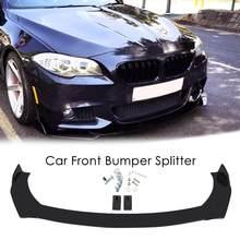 Difusor de alerón para coche, separador de parachoques delantero PP, separador de parachoques delantero izquierdo, derecho, brillante, Kits de carrocería