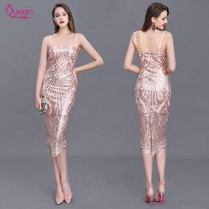 Платье для выпускного вечера, Русалка, лиф сердечком с блестками, длина до колена, с бретелями, открытая спина, сексуальные женские коктейль...