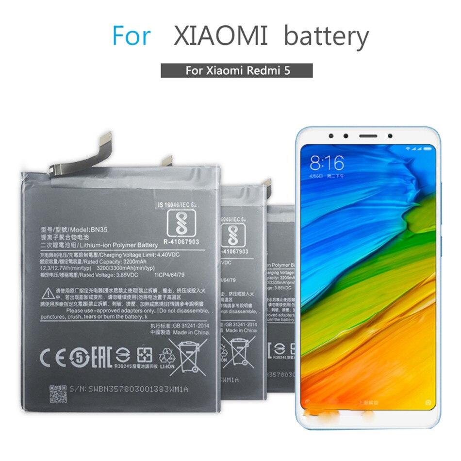 BN35 Mobile Phone Battery For Xiaomi Redmi 5  Redmi5 5.7