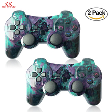 K ISHAKO 1pcs/2pcsWireless Bluetooth Gamepad Joystick Controller SIA XIS For PS3 Double Vibration Evolution