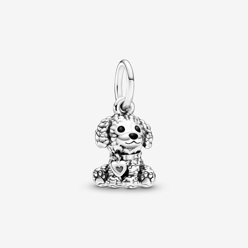 Spring Hot Sale 925 Sterling Silver Beads Poodle Puppy Dog Dangle Charms fit Original European Bracelets Women DIY Jewelry