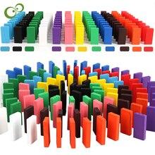 60 шт./компл. деревянные цветные блоки домино игровой набор и укладки игрушки Кубики домино развивающие игрушки подарок детям YJN