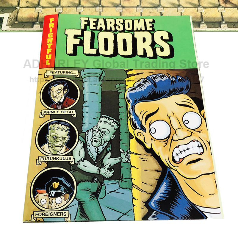 Fearsome Floors Big Box Set - Finstere Flure Horrible Board Game2-7 Players Party Table Games