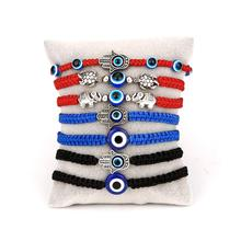 Multi Style Hand Braided Lucky Red Black Rope Bracelets for Women Men Evil Blue Eyes Round Beads Bracelet Fashion Couple Jewelry
