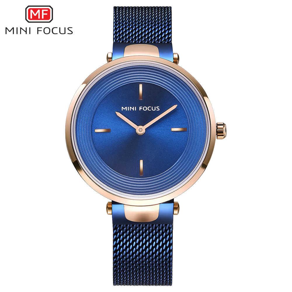 מיני פוקוס מותג נשים שעונים יוקרה קוורץ שעון גבירותיי שמלת צמיד שעון יד נשי שעון Relogio Feminino