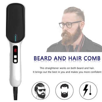 LED Display Ionic Beard Straightener for Men Hair Straightening Comb Adjustable Ceramics Heating Temperature HJL2019 3