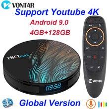 HK1 Max Android 9.0 Smart Tv Box 4Gb Ram 64Gb Rockchip3318 4K Google Play Store Youtube HK1Max 4Gb Ram 32Gb Set Top Box