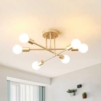 Ceiling Lights Vintage Multiple E27 Lamp Base Black/White/Gold For Living Room / Dining Room / Bedroom LED Ceiling Lamp