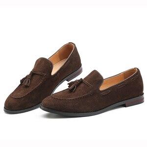 Image 2 - 37 48 남성 캐주얼 신발 moccasins 클래식 패션 럭셔리 우아한 편안한 플러스 사이즈 통기성 브랜드 로퍼 남성 #181