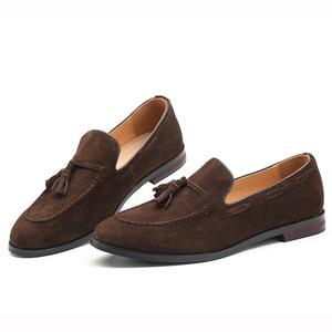 Image 2 - Zapatos informales de 37 48 para hombre, mocasines de lujo elegantes y cómodos de talla grande, mocasines transpirables de marca para hombre #181