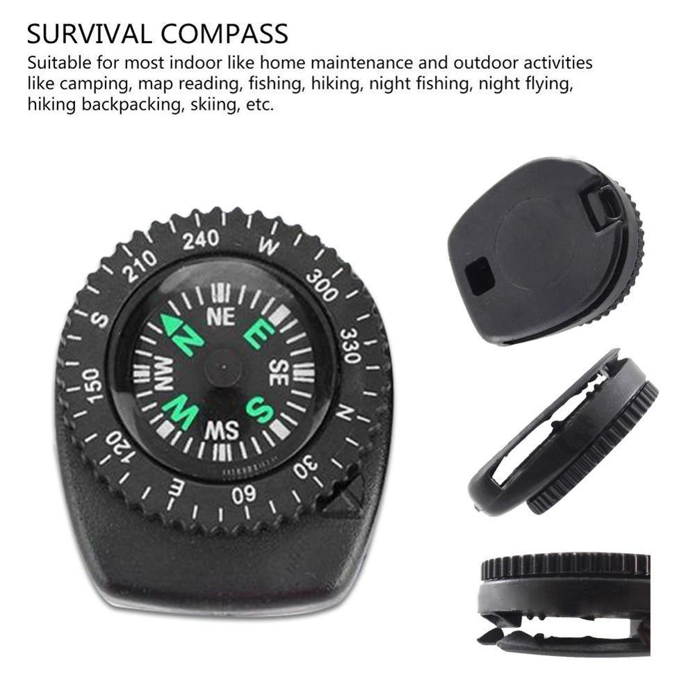 Mini Watch Band Button Compass For Paracord Bracelet Survival Mini Pocket Compass Outdoor Hiking Camping Accessories