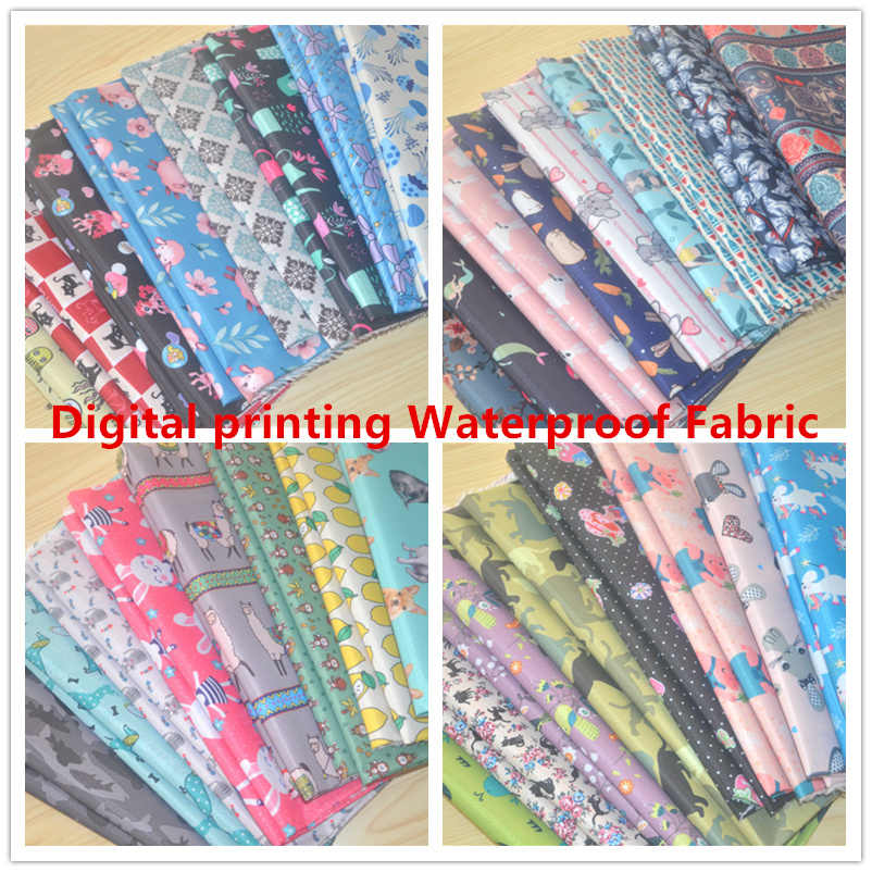 210D PVC Digital Printing Kain Tahan Air Bantal Tas Tenda Furnitur Taplak Meja Outdoor Piknik Tikar Tahan Air Oxford Kain