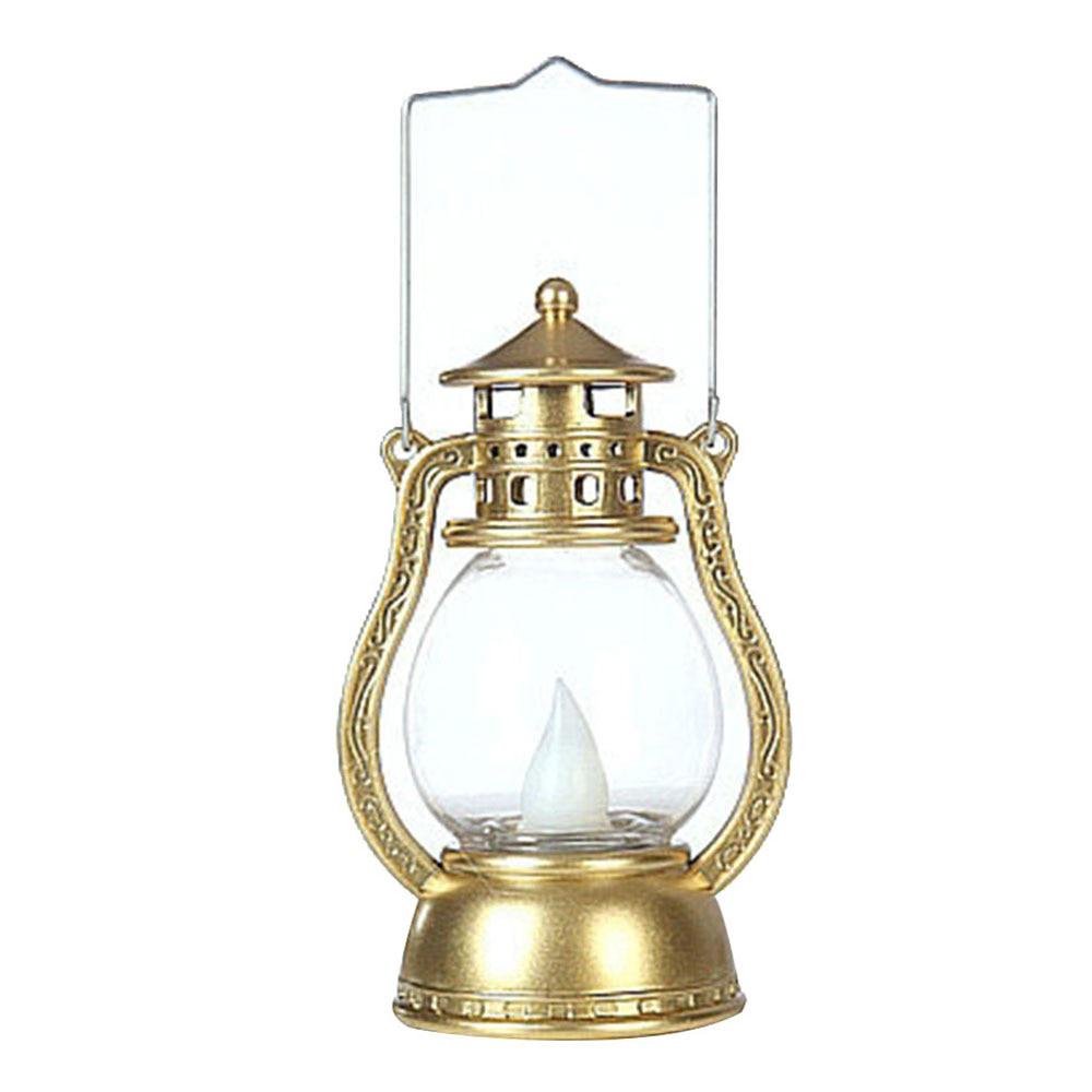 Подвесная лампа на Хэллоуин Светодиодный фонарь Мерцающая электронная беспламенная винтажная портативная лампа креативный дом с привидениями - Испускаемый цвет: Gold