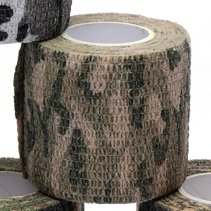 Outdoor Camouflage Muscle Tape Bandage Tool Muscle Care Waterproof Exercise Therapy Bandage Tape Sports Tape 2.5cm*4.5m TSLM2