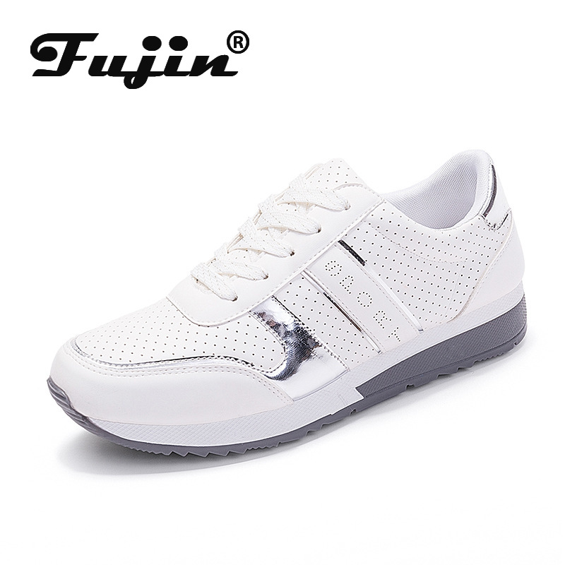 Fujin Leisure-Shoes Large-Size Single-Flats Female Breathable Air Student