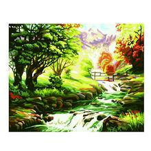Mountain Stream Oil Painting Diy Digital Pure Hand-Painted Living Room Bedroom Study Decorative