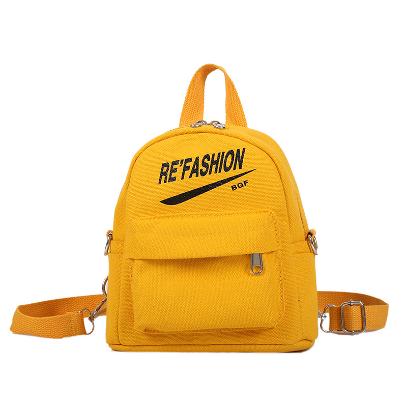 Canvas Shoulder Bag New Style Lettered Printed Backpack Korean-style  Gift