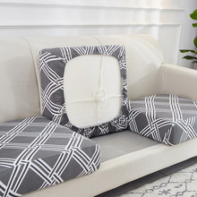 Airldiane Printed Sofa Cushion Cover Elastic Furniture Protector Sofa Seat Cushion Slipcover Spandex Couch Cover for Living Room