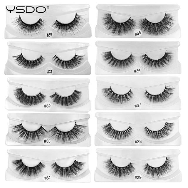 Wholesale mink eyelashes 10/20/30/50/100 pairs 3d mink lashes eyelash extension natural false eyelashes makeup fake lashes bulk 2