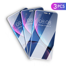 3 pieces Tempered Glass On For iPhone 11 Pro Max X XS Max XR Plus Glass For iPhone 6 6s 7 8 Plus 5 5