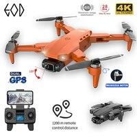 L900PRO-Dron con GPS 4K, cámara Dual de HD, fotografía aérea profesional, Motor sin escobillas, Quadcopter plegable RC, distancia de 1200M