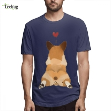 Latest Corgi Butt T Shirt Men New Arrival Streetwear For Man Graphic Short Sleeve