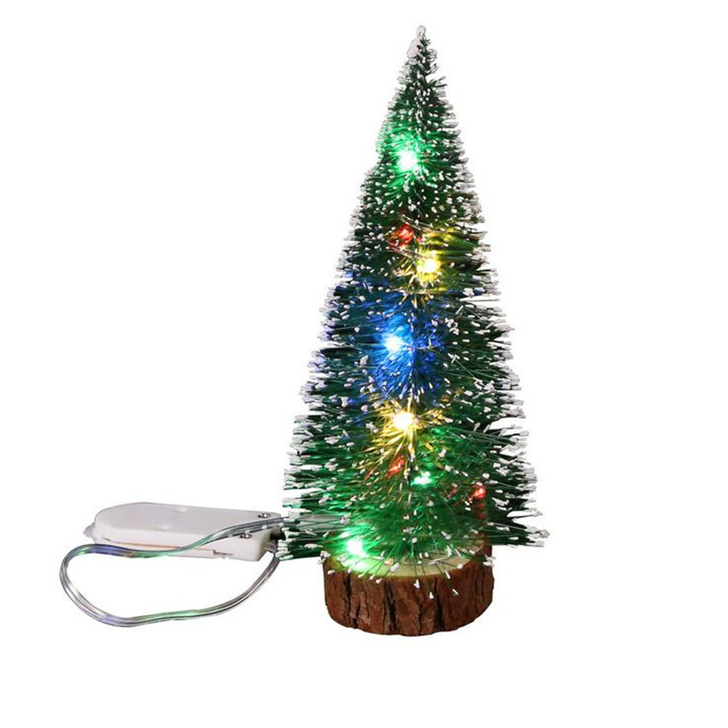 Рождественские украшения, настольные украшения, светодиодный мини-светильник, Рождественская елка, украшение для дома, свадьбы, сделай сам