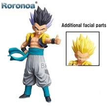 RORONOA Original Banpresto Dragon Ball GROS Figure Grandista Resolution of Soldiers Gotenks SSJ Action Figure Model Toys