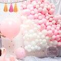 Цвета: розовый, белый круглый воздушных шаров из латекса, годовщина детское платье для дня рождения вечерние украшения цветы на стену Baby Shower...