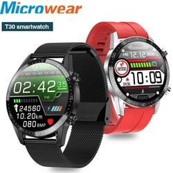Microwear T03 Смарт-часы для мужчин и женщин Температура HR Smartwatch для ios и Android телефон Спорт фитнес-трекер Смарт-часы Смарт Браслет
