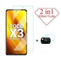 Schutz Glas Für Xiaomi Poco X3 M2 F2 Pro X2 C3 M3 F3 Gehärtetem Glas Für Mi A3 A2 Lite a1 Max Mix 2 2S 3 Objektiv Glas Film