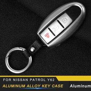 Для Nissan Patrol Y62 автомобильный чехол для ключей из алюминиевого сплава Чехол держатель цепи защитная оболочка Высокое качество