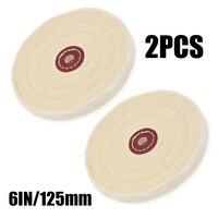 2Pcs 6Inch Tuch Polieren Polieren Rad Puffer Schmuck Grinder Pad Handwerk Haushalt Schleifen Zubehör-in Polierer aus Werkzeug bei