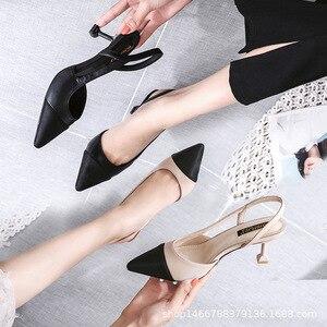 Image 2 - รองเท้าผู้หญิง 6 ซม.รองเท้าส้นสูงSlingbackปั๊มผู้หญิงเซ็กซี่Pointed Toe Partyงานแต่งงานElegant Officeรองเท้าส้นสีดำBeige