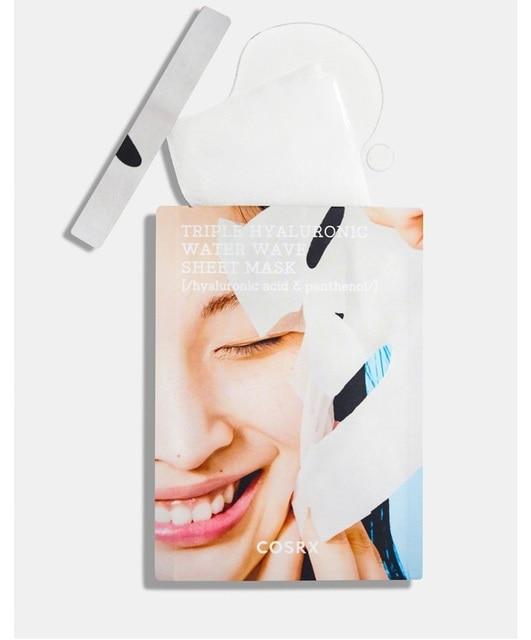 COSRX Hydrium Triple Hyaluronic Water Wave Sheet Mask 3ea Hyaluronic Acid Tight Rehydration Mask Pores Moisturizing Korean Mask 2