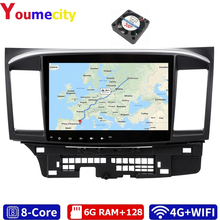 Youmecity Android 9.0 Car DVD Multimedia Player For MITSUBISHI LANCER 2007 2018 9 x 10.1 Inch 2DIN 3G/4G GPS Radio Video Stereo