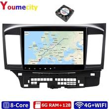 Youmecity Android 9.0 samochodowy odtwarzacz DVD odtwarzacz multimedialny dla MITSUBISHI LANCER 2007 2018 9x10.1 Cal 2DIN 3G/4G Radio GPS Video Stereo