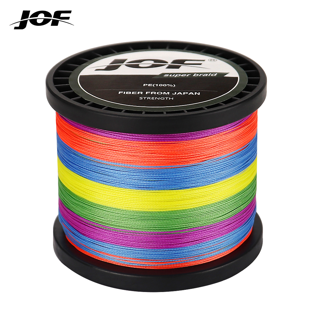 JOF 8 Strands Braided Fishing Line Multifilament 300M 500M 1000M Carp Fishing Japanese Braided Wire Cord Fishing Accessories Sea