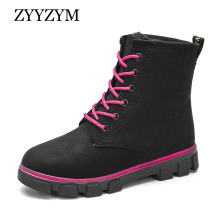 ZYYZYM Women Snow Boots Winter Plush Keep Warm High Top Cotton Shoes Woman Ankle for