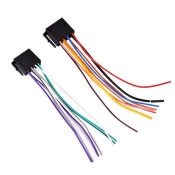 Automobile Power Cable Cord Car Accessories Wire Universal 2 Din Car Radio MP5 2-color Randomly 16.5*2.5cm image