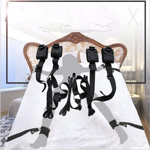 Nylon Sex Handcuffs Bdsm Bondage Erotic Under Bed BDSM Bondage Restraint Strap System Sex Toys for Adults Wrists & Ankle Cuffs