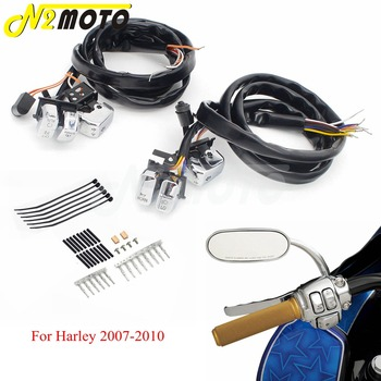 L&R Handlebar Switch Control Kit On/Off Button LED Beam Horn Kill Switch For Harley Sportsters XL 883 1200 Dyna Softail Touring