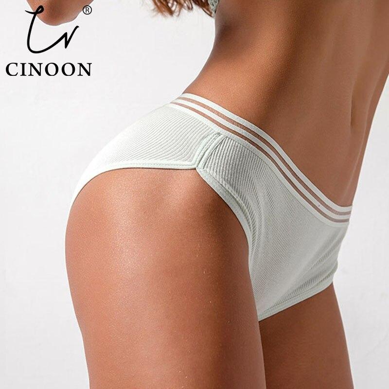 CINOON New Plus Size Panties For Women Girls Underwear Cotton Panty Soild Elasticity Comfortable Low-Rise Lingerie Panties M-4XL