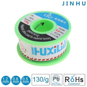 цена на Solder Wire 0.5/0.8/1.2mm 130g Soldering Wires 63/67 FLUX 1.8% Tin Lead Tin Wire Welding Wire Rosin Core Solder for Soldering